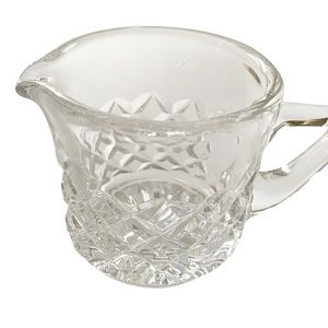 Spode crystal creamer small coffee clear pitcher